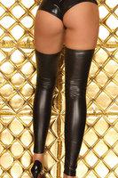 Fashion fashion sexy close-fitting artificial leather metal light black legging 7718 - 2