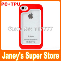 New Design Fashion PC+TPU Bumper for iPhone 4G 4S,10 pcs/lot Free Shipping