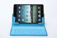 Free Shipping, Newest Flip Cover case with slim Silicon Bluetooth Keyboard  for ipad mini, folding cover wireless keyboard, hot
