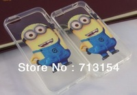 The Cute cartoon Clear TPU soft Despicable Me case For Iphone 5 5G TPU soft Despicable Me case for Iphone 4 4S 4G free shipping
