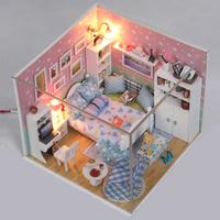 Assembled model diy handmade small house diy educational toys romantic day gift