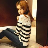 Ayilian DUOYI pure ETAM JEANSWEST HSTYLE women's lace wool sweater top