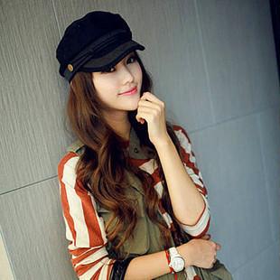 free shipping new 2013 Hat female summer Korean fashion lace cap navy cap captain cap winter cap winter female Shibei Lei(China (Mainland))
