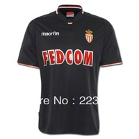 Top Thai quality 13/14 Monaco soccer jersey away 2013/2014 ligue 1 black Falcao football french team shirt training kit uniform