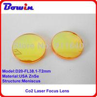 Free Shipping USA ZnSe Co2 laser focus lens diameter 20mm focal length 38.1mm better laser spot