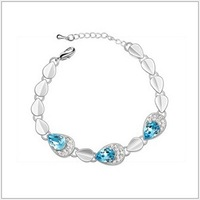 Classic Designer High Quality Ladies Bracelets with Color Crystal for women