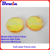 Free Shipping USA ZnSe Co2 laser focus lens diameter 20mm focal length 63.5mm better laser spot