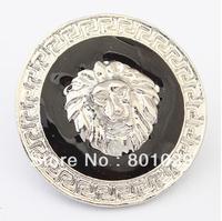 Free shipping Retro metallic lion head stud earrings 2.8x2.8cm