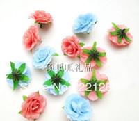 Simulation sweetheart roses small tea mei red silk flowers artificial flowers DIY garland flower heads flowers 4 cm