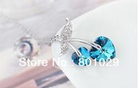 Romantic Austrian crystal necklace& Pendants free shipping