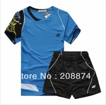 free shipping New 2012 Men Table Tennis/ badminton 78945 Polo Shirt+shorts