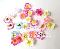 Simulation peach plum flower heads for wedding flower decoration flower
