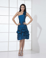 EDA19A-line Taffeta One Shoulder Knee Length Dresses Cocktail 2013