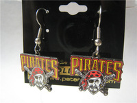 free shipping Pittsburgh Pirates Logo Wire Earrings: Sports & Outdoors/wholesale