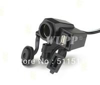 Free DHL shipping 100pcs OEM WUPP Motorcycle 12V Cigarette Lighter Power Port Integration Outlet Socket with 5V 1A USB port