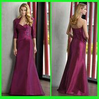 DDS29 Beautiful Shawl sweetheart applique beaded ruffle purple sweep train traditional formal evening dress