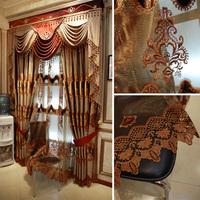 Luxury yarn quality finished product fashion curtain luxury