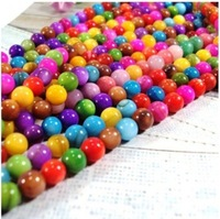 Wholesale -1 Strand Mixed Color Dyed Natural Shell Round Beads 6mm 2Q187