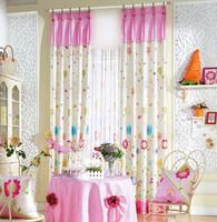 Print shade curtain yarn girl cartoon curtain child real princess real