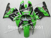 Custom for kawasaki fairing kits1996-2003 ZX7R fairings ninja ZX 7R 96 97 98 99 00 01 02 03 zx-7r glossy green black SN