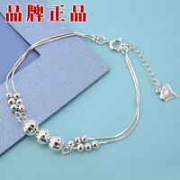 2013 Free Shiping Pure Silver Bracelet Pure Silver 999 Women Fashion Lovers Ball Pen Gift Silver Bracelet