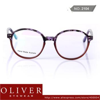New Arrival 2013 Retro Optical Frame Unisex Cute Round Frame Eyeglasses Leopard+Patchwork Frame Brand Eyewear 2104 Free Shipping