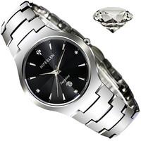 Brand new HIFEELEN Tungsten steel quartz watch  waterproof watchultra-thin male table diamond sheet-Free Shipping