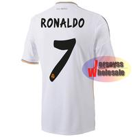 CRISTIANO RONALDO Jersey 2013/2014 Thailand Quality White Home Custom Real Madrid Cristiano Ronaldo Jersey Free Shipping