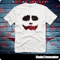 2014 /XS-XXL Batman joker Heath Ledger personality T-shirt bloodthirsty forensic summer clothes for men