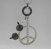 TN123(Min.Order $15 )High Quality 2014 Thomas Style Gifts Necklaces & Pendants Charm Necklace Peace Necklace Beads Chain