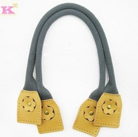Bags diy accessories handmade cloth taping knopper handle genuine cowhide leather canvas  handle