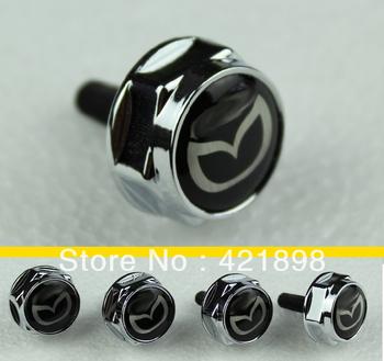 For Mazda All Model Chrome Metal License Plate Frame Bolt Screws