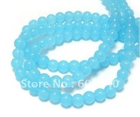 Wholesale -1 Strand Turquoise Fire Polished 6mm Round Glass Beads Craft Accessories 2Q100