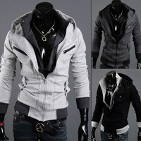 Spring spring male sweatshirt slim cardigan brushed spring sweatshirt outerwear male