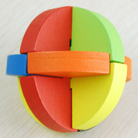 Wood adult toy wooden multicolour luban ball adult toy educational toys  baby toys