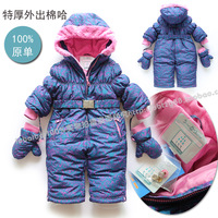 free shipping retail Winter baby  romper kids jumpsuit romper newborn  autumn and winter outwear baby overalls