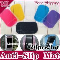 20pcs/lot Powerful Silica Gel Magic Sticky Pad Anti Slip Non Slip Mat for Phone Mobile PDA mp3 mp4 Car Accessories Multicolor