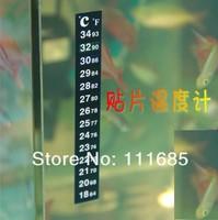 Free Shipping, 100pcs/lot Liquid Crystal Aquarium Thermometer With Aquarium Thermometer Strip And Digital Aquarium Thermometer