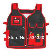 Heavy Duty Tool Vest, waist tool bag ,tool apron with 10 Pocket