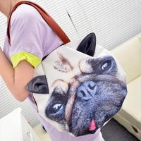women's dog pattern  bag cat pattern bag cartoon handbag one shoulder bag