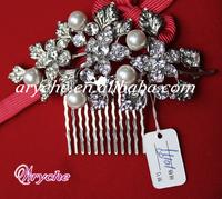 10199 Hot New Fashion Pearl Crystal Rhinestone Bridal Jewelry Hair Combs & Tiara Custom Hair Accessories