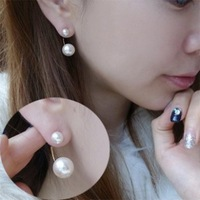 Free shipping new fashion winter pearl earrings song neckband earring stud earrings for women D02122