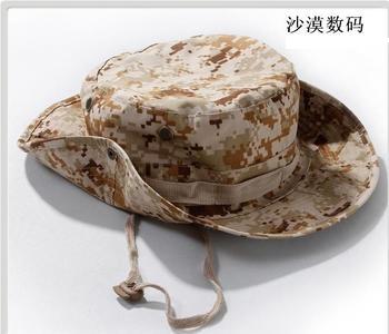 Kevlar outdoor protection windproof rim hat Camouflage bucket hat