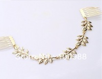 H794-005 10pcs/Lot Free Shipping gold combs hair accessories bridal head piece bridal hair pin