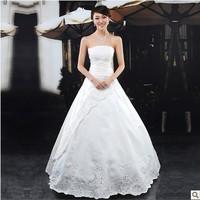 Free Shipping 2013 recommended princess puff skirt wedding dress beading paillette  fashion cheap wedding dress  M L XL