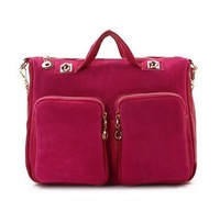 Free shipping! Wholesale 2013 New South Korean star love frosted double pocket shoulder bag 3050