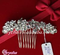 10195 New 2013 Fashion Crystal Rhinestone Bridal Jewelry Hair Combs Wholesale In Yiwu China