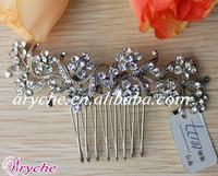 10177 New Fashion Pearl+Crystal+Rhinestone Wedding Jewelry Hair Combs For Bridal