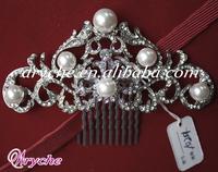 10201 New Fashion Bridal Wedding Jewelry Tiara & Woman's Decoration Pearl Hair Combs