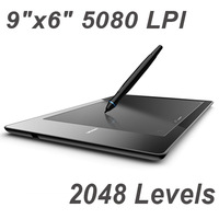 """9""""x6"""" USB Drawing Graphic Tablet Board For PC Laptop Computer with Cordless Digital Pen 2048 Levels 5080 LPI Free Shipping"""